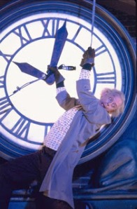 Einstein's clock is exactly one minute behind mine and still ticking!  (© Universal Studios - All Rights Reserved.)